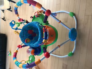 Playmat, jumpier, music swing and crib wedge  for sale