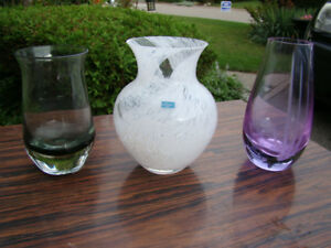 Trio of Vintage Caithness Vases