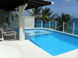 Barbados Romantic Coral stone villa on100 foot  seaside cliff