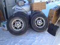 4 x ALLOY RIM and TIRES 60$