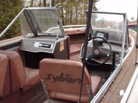 16 ft. sylvan fishing boat with 60 hp