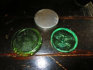 Vintage glass and metal lids