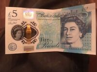 AM20 £5 note
