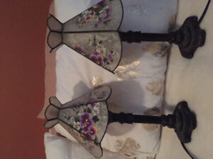 Tiffany style bedside lamps