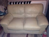 2 seat sofa cream leather