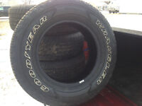 275/65R18 Goodyear Wranglers tires