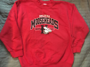 Halifax Mooseheads Red Sweatshirt - Size Youth Medium