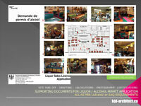 Restaurant Design - Plans – Liquor License/ Permits -