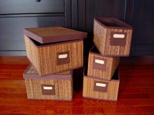 Decor Storage Bins (Set of 5)