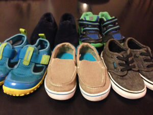 5 Pairs of size 6 Boys shoes.