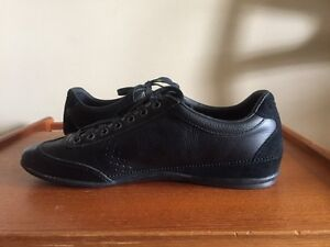 Lacoste Men's Misano 34 Fashion Black Leather Sneakers Shoes London Ontario image 3