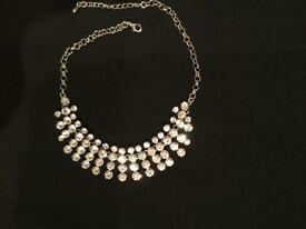 Diamanté necklace