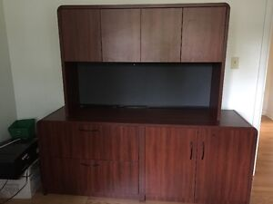 Commercial grade office credenza, filing cabinet and hutch Kingston Kingston Area image 1
