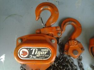 Chain Hoist Tigar 3 Ton and Recovery Strap