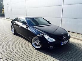 2005 05 reg Mercedes-Benz CLS350 3.5 7G-Tronic Coupe + BLACK + Cream Leather