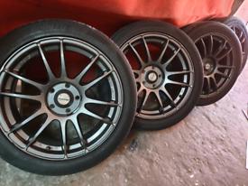 "17"" RAYS gram light alloy wheels ford mondeo connect focus jaguarvolvo"