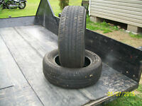 Two tires size P225/60r16 Fireston FR710  (Very good condition)
