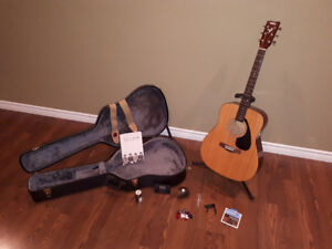 Yamaha Guitar and a bunch of other stuff, great starter gift.