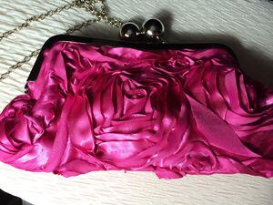 Never Used- Fushia Pink Rosebud Handbag