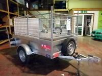 JUST TRAILERS SINGLE AXLE NON BRAKED GENERAL DUTY TRAILER SIDES AND LOAD RAMP