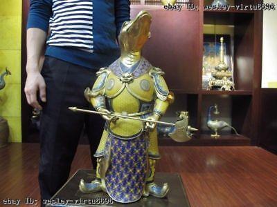 20 Royal Palace purple Copper Bronze cloisonne 24K Gold Gilt Zodiac snake Statue
