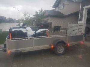 2012 triton aluminum trailer 6x14, torsion axle, electric brakes