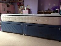 Small double bed with memory foam mattress