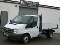 FORD TRANSIT T350 2.4 TDCi FACTORY TIPPER DROPSIDE FLATBED TRUCK WORK VAN PICKUP