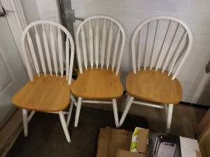 3 Wood Chairs for sale