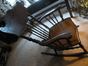 ANTIQUE Rocking Chair  Refinished, Davenport (pull-out) couch...