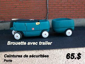 Jouets  Brouette ( 4 roues avec trailer )   Vélo-