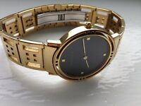 SOLD - Designer Watch - 9ct Gold plated Charles Rennie MacKintosh men's watch