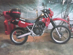 Rare bike 1995 Kawasaki KLR 250 completely restored
