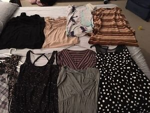 9 maternity tops and one dress $40