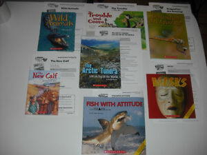 Scholastic books with the Guided Reading Teaching Plan K-6