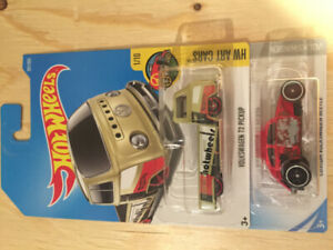 Hot Wheels Volkswagen T2 Pickup and Custom VW Beetle