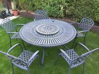 garden table and chairs made by hartman