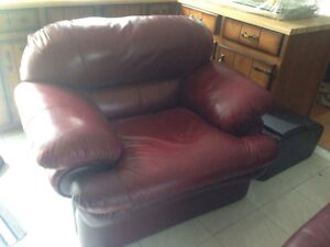 Maroon Love Seat and Arm Chair