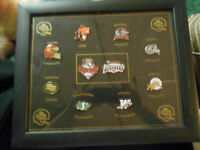2000 Framed Grey Cup Pins