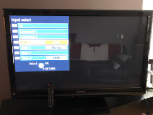 "52"" Panasonic  Flat Screen Plasma TV with original remote."