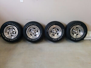Set of 4 – 14 inch Aluminum wheels and tires 235/60R14