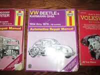 Haynes repair manual Beetle Westfalia Rebuilt engine Volkswagen