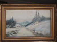 Antique listed Canadian artist Reginald F.Selfe oil painting