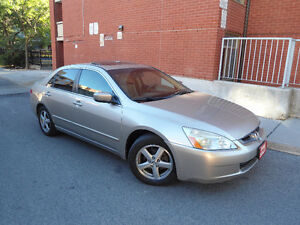 2003 HONDA ACCORD EX-L, LEATHER , SUNROOF , (4) LIKE NEW TIRES !