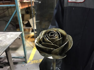 Custom hand made Stainless Steel roses or any flower you like.