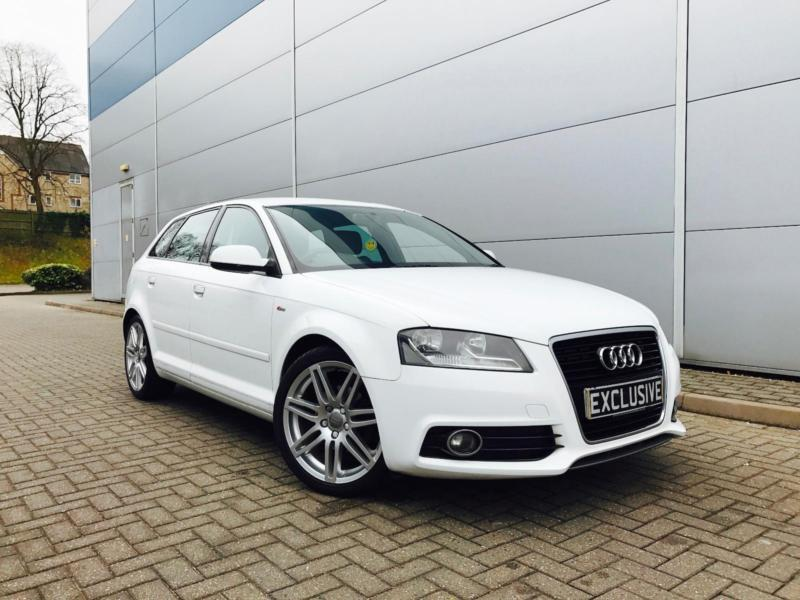2010 10 reg audi a3 2 0 tdi s line sportback white. Black Bedroom Furniture Sets. Home Design Ideas