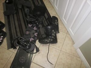 SNOWBOARD,BINDINGS and boots