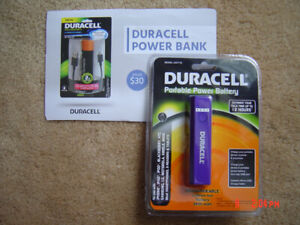 BNIB~Duracell Rechargeable~Portable Power Bank