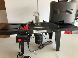 Ryobi Router, Storage Case and Router Table
