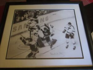 Bobby Orr famous goal,signed and framed autograph